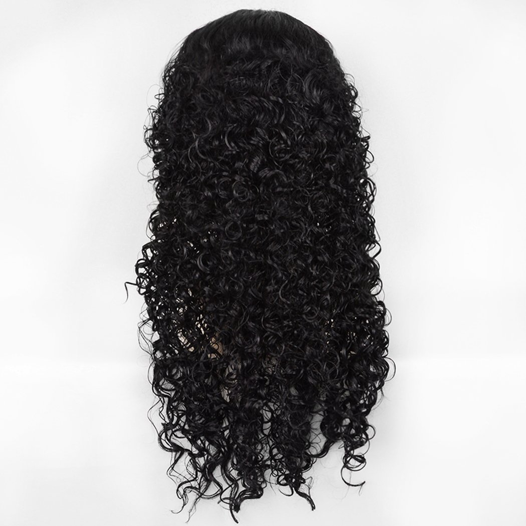 Amazon.com: SiYi Anime Long Curly Black Wig for Mens Halloween Cosplay Costume Wigs: Beauty