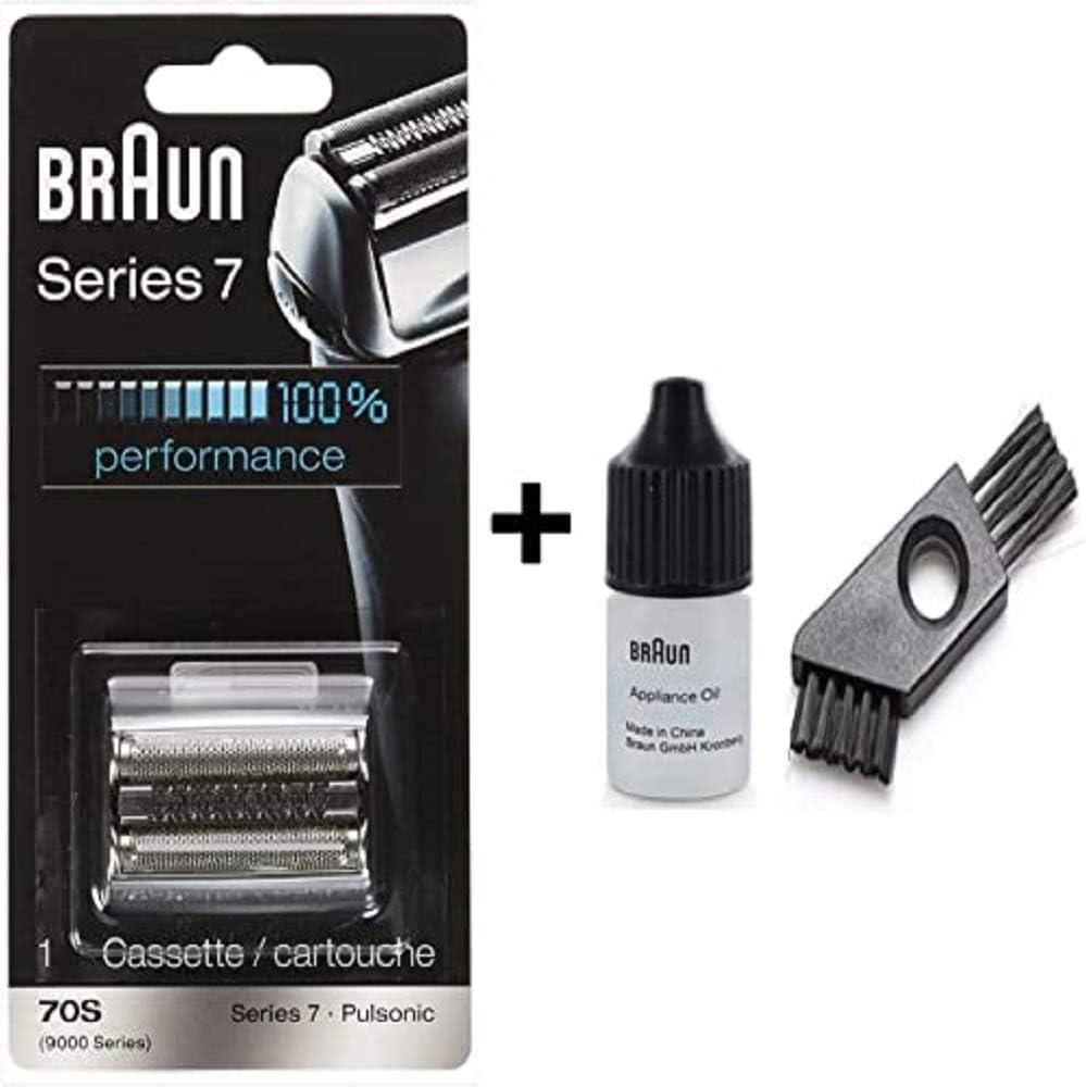 Braun: casete / 9000 serie 7 (años 70) con un cepillo de limpieza ...
