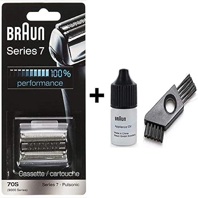 Braun: casete / 9000 serie 7 (años 70) con un cepillo de limpieza y aceite.: Amazon.es: Salud y cuidado personal