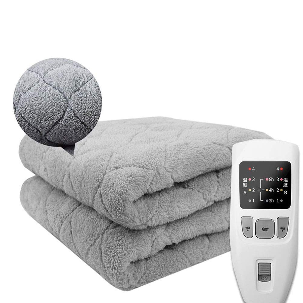 Luxury Boutique Double Electric Blanket Dual Control Electric Heating Blanket Temperature Control Waterproof Radiation Safety(Twin, Full, Queen, King), Beige, 180 * 80Cm(Twin) WMWZ