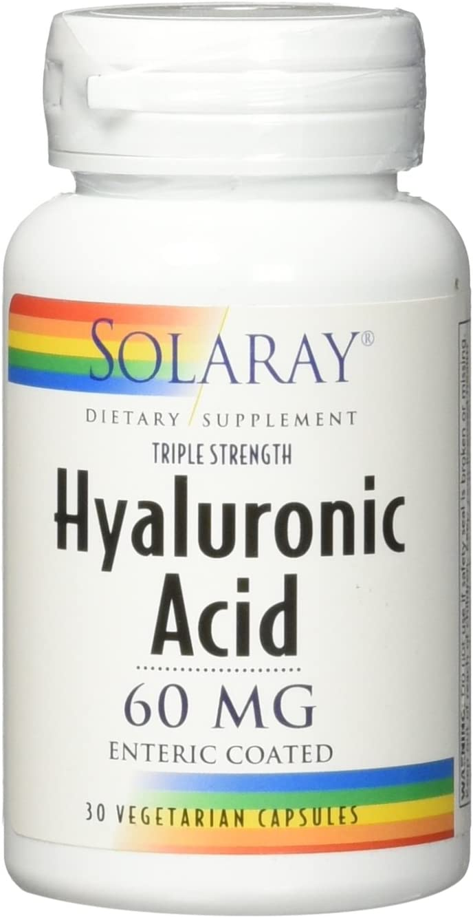 Solaray Triple Strength Hyaluronic Acid, 60 mg VCapsules, 30 Count