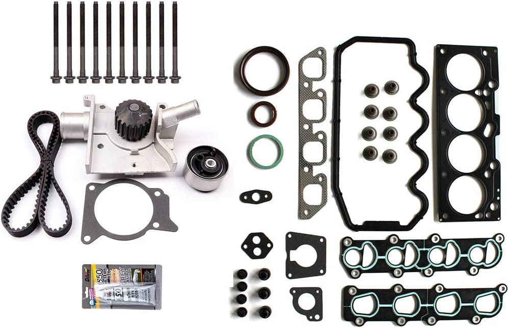 ANPART Timing Belt Kit Fit For 1997-1999 Ford Escort 1997-1999 Mercury Tracer Timing Belt Water Pump Tensioner Gasket Set