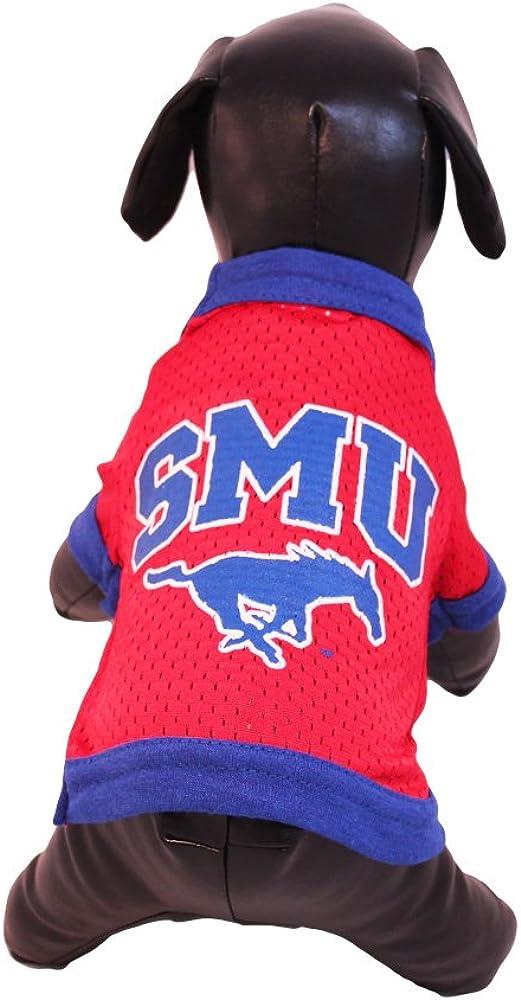 NCAA SMU Mustangs Athletic Mesh Dog Jersey