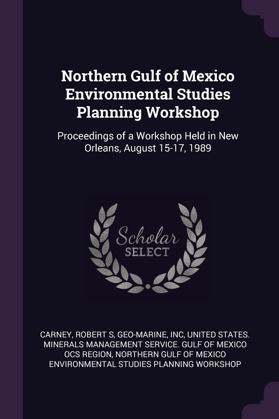 Download Northern Gulf of Mexico Environmental Studies Planning Workshop: Proceedings of a Workshop Held in New Orleans, August 15-17, 1989 ebook