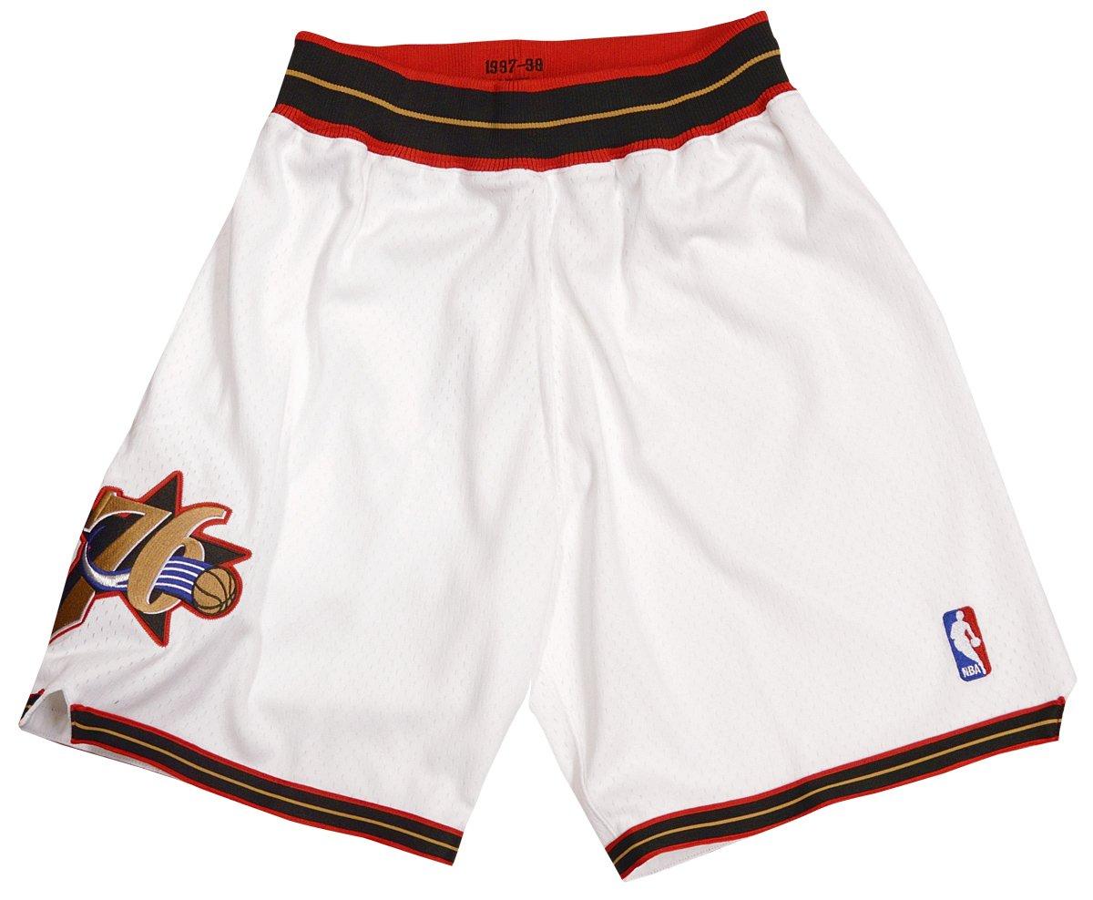 Mitchell & Ness Philadelphia 76ers Authentic White Throwback Shorts (Large)