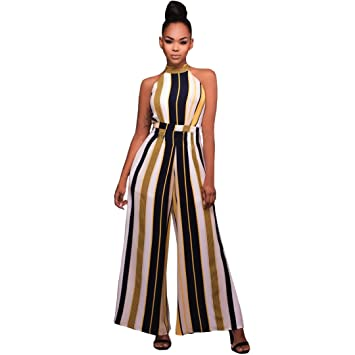 Jumpsuits Elegant for Women Fheaven Ladies Fashion Solid Color Loose Cotton Sleeveles Casual Party Rompers Jumpsuits