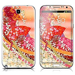 Tqie SX-045 Fan Pattern Front and Back Protector Stickers for Samsung Note 2 N7100