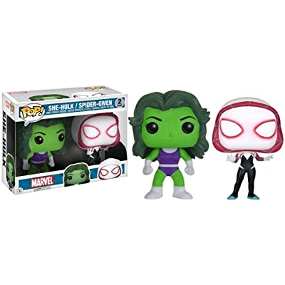 Funko Pop She-Hulk/Spider-Gwen Two Pack Exclusive.: Toys & Games