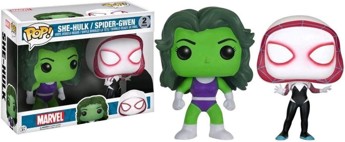 Funko Pop Marvel She-Hulk /& Spider-Gwen Exclusive Vinyl 2-Pack