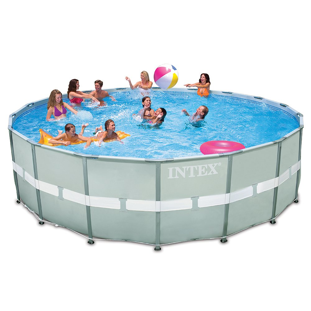 Intex 18Ft X 48In Ultra Frame Pool Set With Sand Filter Pump 6