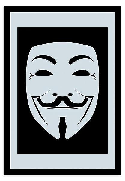 "Espejo "" V de Vendetta"" Máscara Guy Fawkes "" ..."