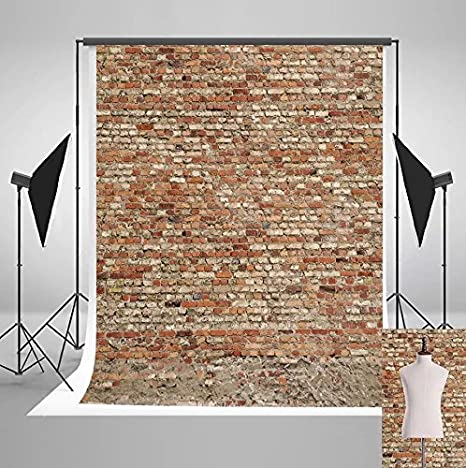 a6a9f3f65c Amazon.com   5x7ft Red Brick Wall Photo Backgrounds Brick Floor Wrinkle  Free Photography Backdrops for Wedding wd0012   Camera   Photo