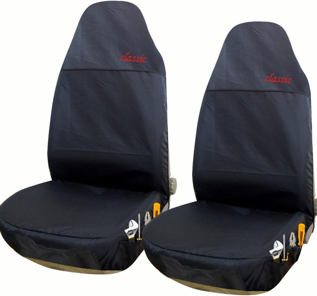 EUGAD 0112QCZT-2 2rt Auto Sitzbez/üge Einzelbezug Werkstattschoner Sitzschoner Wei/ß