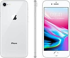 """iPhone 8 Apple 64GB Prata Tela Retina HD 4,7"""" IOS 11 4G e Câmera de 12 MP"""