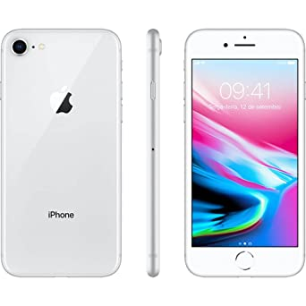 ea17dec84 iPhone 8 Apple 256GB Prata Tela Retina HD 4,7 IOS 11 4G e Câmera de ...