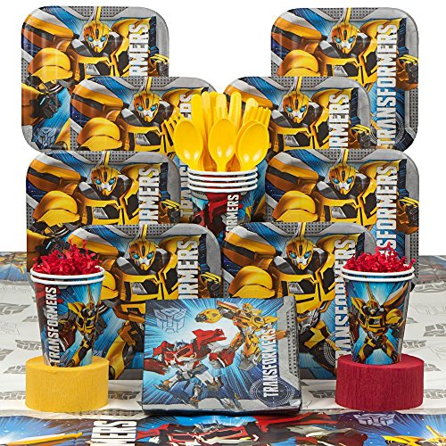 Transformers Costume Gif (Transformers Deluxe Kit (Serves 8) - Party Supplies)