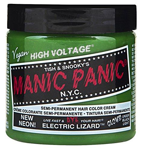 Green Hair Bright Dye - Manic Panic - Electric Lizard Cream Hair Color