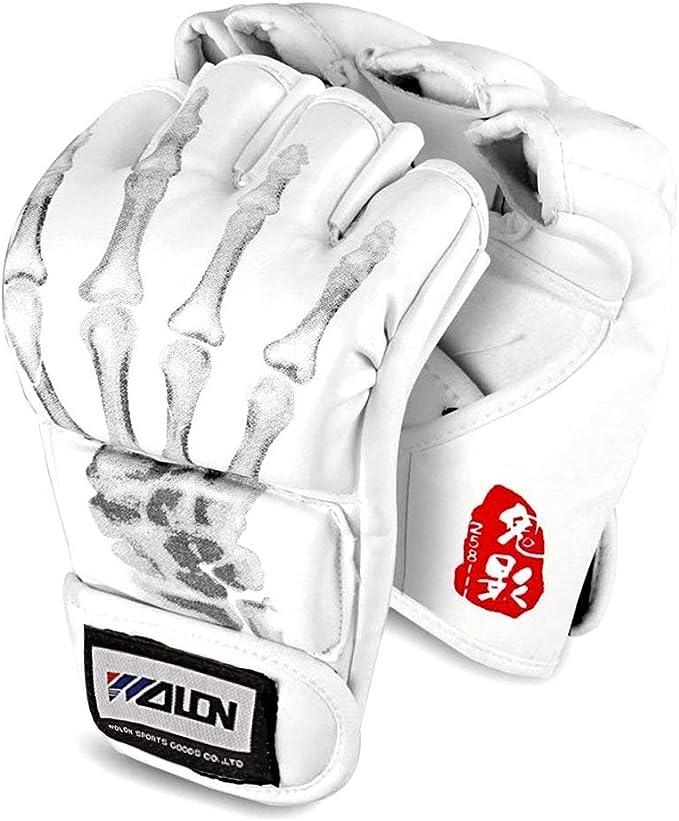 Flexzion Half Finger Boxing Gloves Grappling MMA Muay Thai UFC Sparring Punch Ultimate Mitts Sanda Fighting Training Sandbag Equipment Pair for Adult Men
