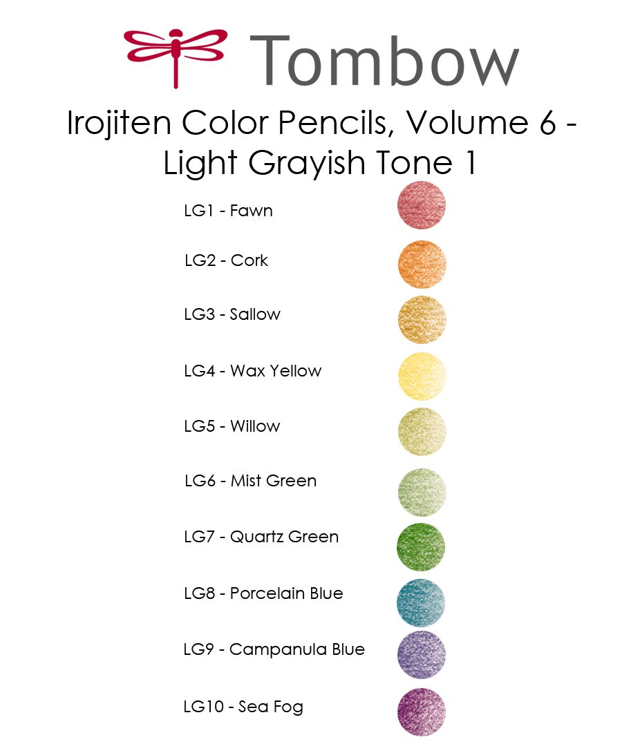 Tombow Irojiten Colored Pencils (Woodlands) by Tombow (Image #1)
