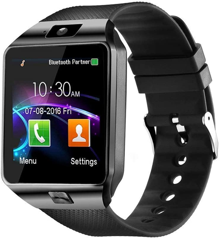 Padgene Bluetooth Smartwatch Touchscreen Wrist Smart Phone Watch Sports Fitness Tracker With Sim Sd Card Slot Camera Pedometer Compatible With Android Smartphone For Kids Men Women