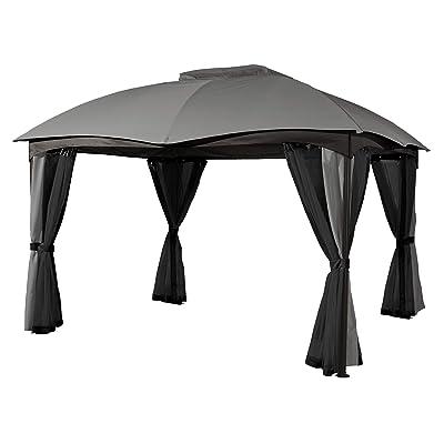 Sojag 10' x 12' Phuket Fabric Soft-Top Gazebo Outdoor Sun Shelter, Grey : Garden & Outdoor
