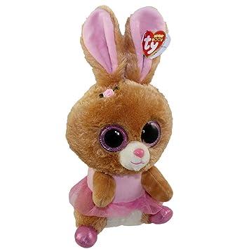 28dc446dda9 Amazon.com  Qiyun Ty Beanie Boos Twinkle Toes The Ballerina Bunny Glitter  Eyes Medium 9 Inch  Toys   Games
