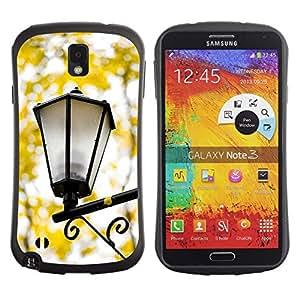 """Hypernova Slim Fit Dual Barniz Protector Caso Case Funda Para Samsung Note 3 [Caída de la lámpara de la calle Amarillo Romántico""""]"""