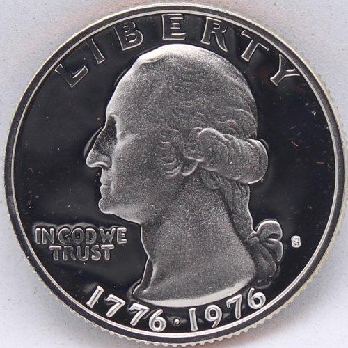 1976-S Proof Washington Bicentennial Quarter (Quarter Washington Type)