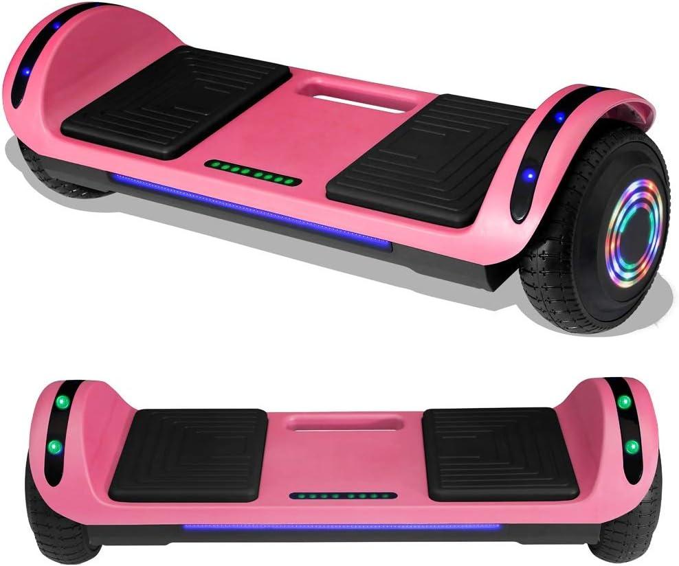 Leds Self Balancing TOEU Potente bater/ía de Litio monopat/ín el/éctrico Auto-Equilibrio Ruedas de 6.5 Bluetooth Patinete El/éctrico Hoverboard