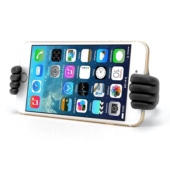 Amazon.com: eDealMax Teléfono celular auto auto Smartphone GPS de Mano Diseño de Doble Clip del sostenedor del soporte Negro: Electronics