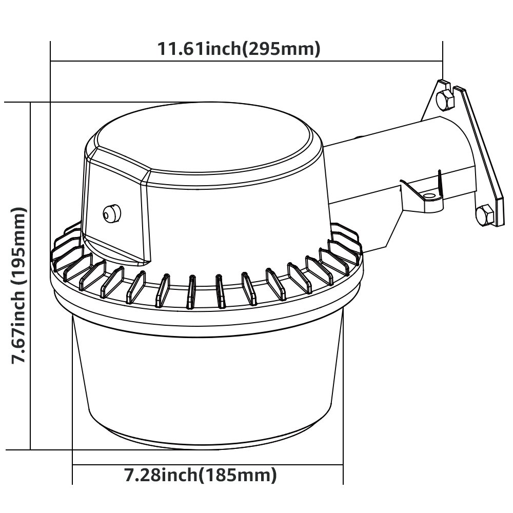 Photocell Included 5-Year Warranty Silver 3500lm 3000K ...