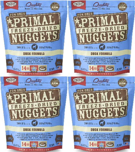 Primal Freeze-Dried Nuggets Duck Formula for Dogs 56oz (4 x 14oz) by Primal