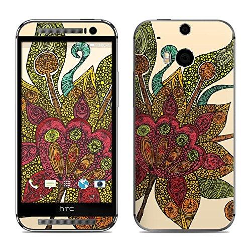 Spring Flower Design Decal Skin Sticker for HTC One M8 Skins (2014) (Matte Satin)