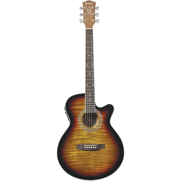 Chord Sunburst – Guitarra electroacústica: Amazon.es: Instrumentos ...