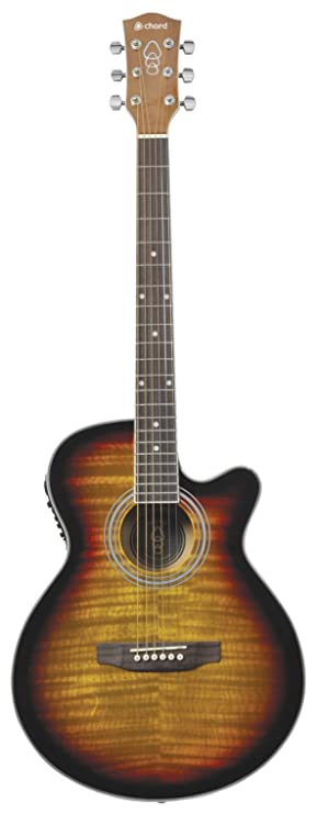 chord Electro-Acoustic Guitar - Sunburst: Amazon.co.uk: Musical ...
