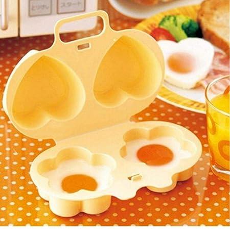 AMOYER Microondas para Cocinar Huevos Huevo Vapor del Molde ...