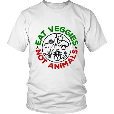 Eat Veggies Not Animals Vegetarian Vegan T-Shirt
