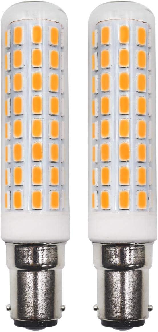 B15D Bombilla LED AC 230V SBC bayoneta 7.5W corresponde a bombillas halógenas 70W-120W Blanco cálido sin parpadeo Vidrio transparente no regulable para máquinas de coser Lámpara de pie (paquete de 2)
