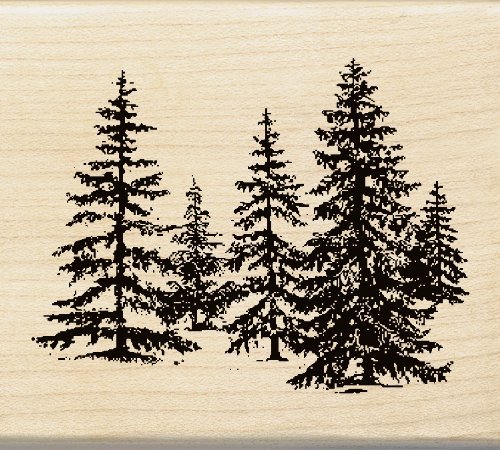 Image Tree Stamp (Inkadinkado Stand of Pines Wood Stamp)