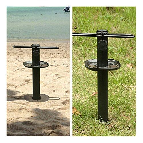 Metal Beach Umbrella Sand Anchor Holder Stands Sand Auger