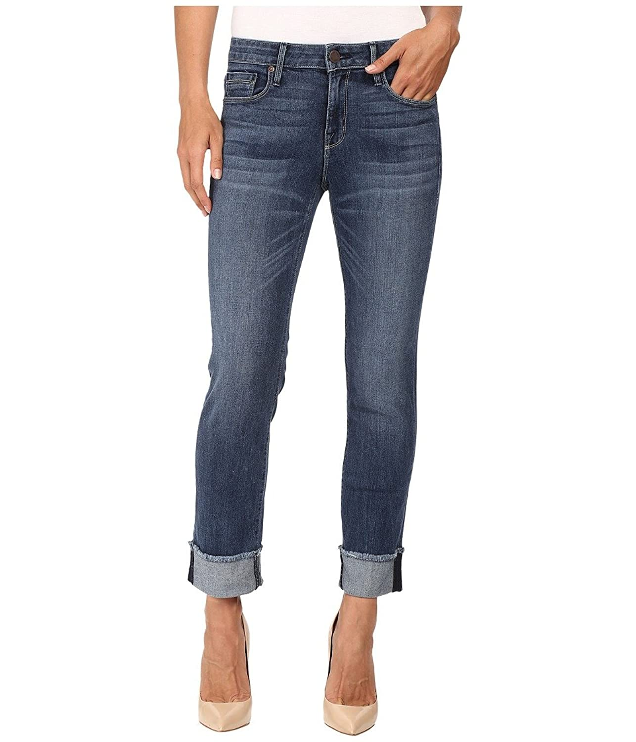 Parker Smith Women's Cuffed Straight in Petrol Blue Petrol Blue Jeans