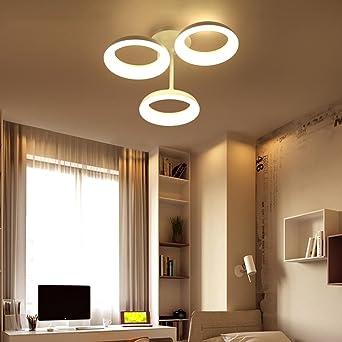 AllureFeng Neue runde LED-Leuchten Wohnzimmer Schlafzimmer moderne weiße  Deckenleuchte Mode-Design in der Deckenlampe einstellbares Licht ...