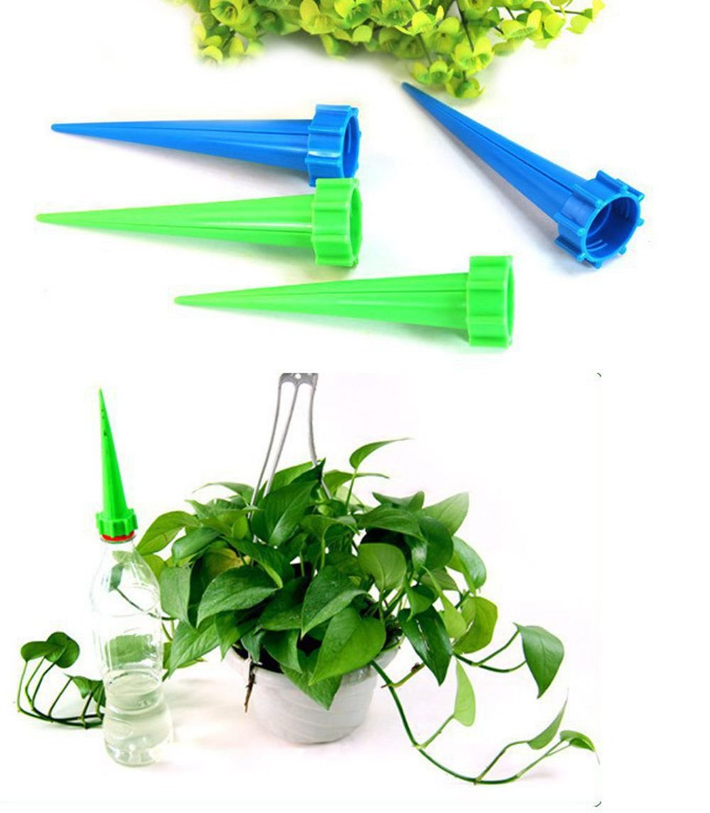 DADA Automatic Plant Bottle,Top Watering Spike For Plant Flower Waterer Bottle Irrigation For Vacation,Pack of 4 Gadgets