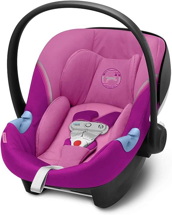 CYBEX Gold Seggiolino Aton M i-Size, Include SensorSafe, per Bambini da 45 cm a 87 cm, Max. 13 kg, Magnolia Pink