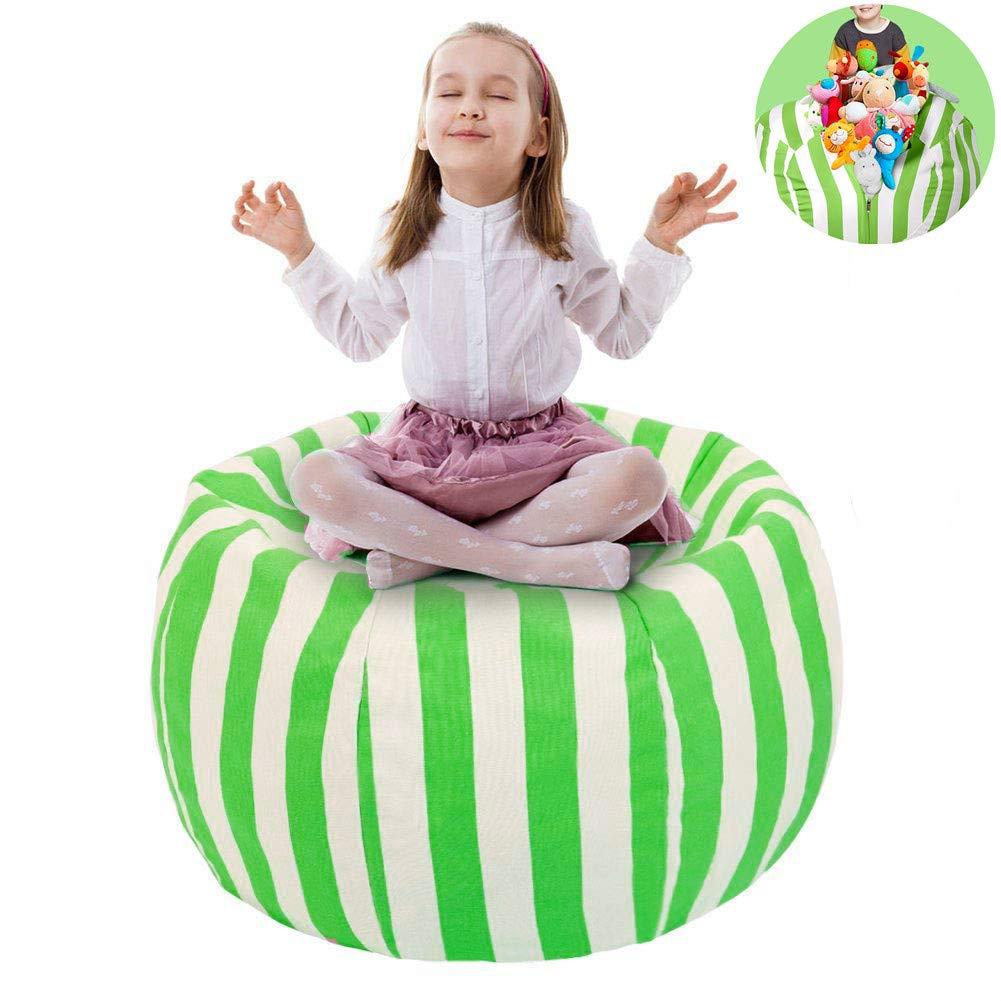 Purple UMydeal 38 Stofftier Kuscheltiere Aufbewahrung Aufbewahrungstasche Sitzsack Kinder Soft Pouch Stoff Stuhl