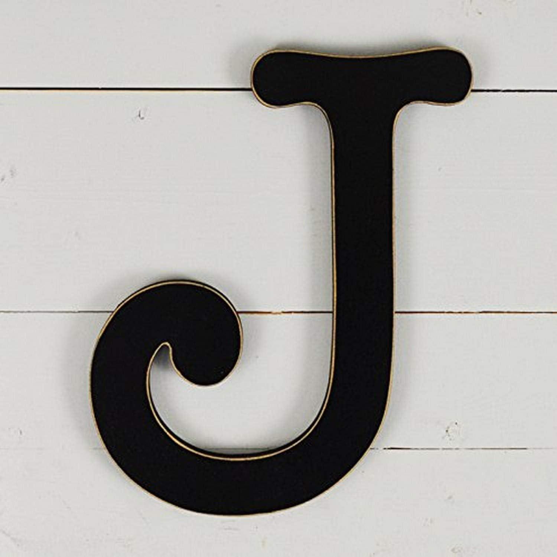 """UNFINISHEDWOODCO 300569 11.5"""" Typewriter Wall Decor Letter J-Black"""