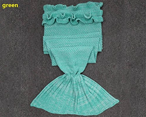 BFY Sleeping Mermaid Tail Knitted Acrylic Kids Blanket Crochet by BFY (Image #2)