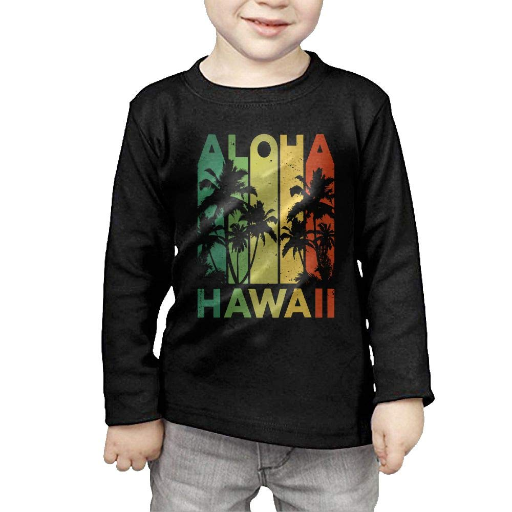 Fryhyu8 Newborn Kids Aloha Hawaii Printed Long Sleeve 100/% Cotton Infants Clothes
