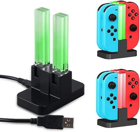 WXJHA Estación de Carga de Soporte portátil 4 en 1 para Nintendo ...