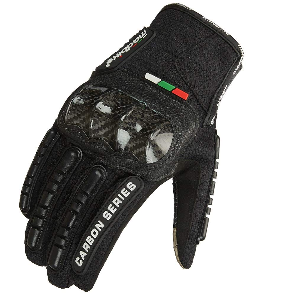 AINIYF Tactical Gloves | Carbon Full Finger Motorcycle Gloves Men Summer Offroad Locomotive Drops Sports Gloves Racing Rider (Color : Black, Size : L)